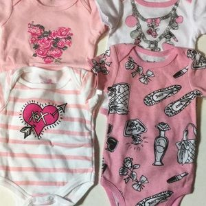Juicy couture/Betsy Johnson onesies  0-3 months